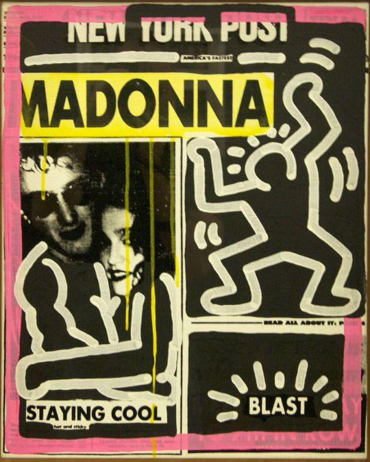 Madonna by Keith Haring and Andy Warhol 1985