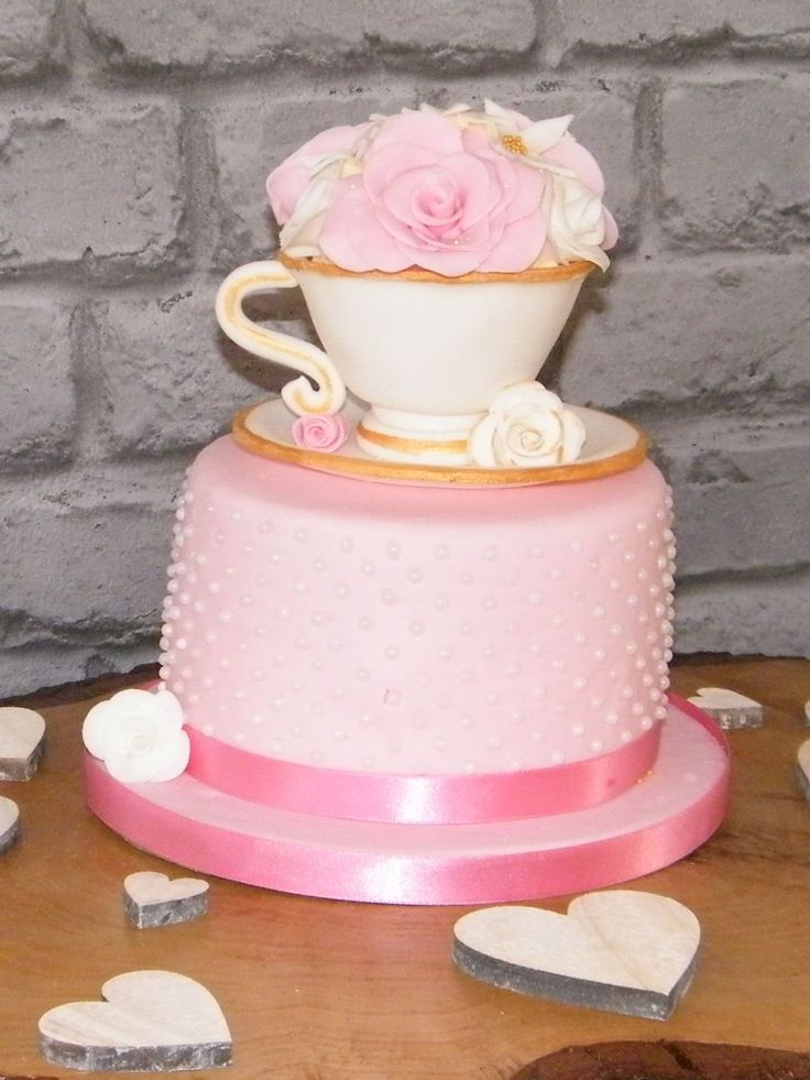 Teacup Cake  on Cake Central