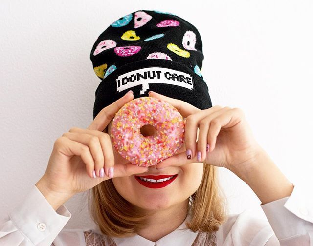 I DONUT care it's Monday! I'm Gonna have an excellent day  #glammydiydotcom#diy#donutnails#being#creative#is#fun#color#your#life#myunicornlife#morningmotivation#peoplescreatives#headshot#photography#nikon#photosinbetween#I#have#a#crush#on#this#beanie##visualcrush#inspiration