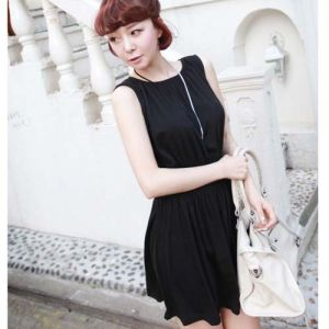 $5.99    Trendy Elegant Round Neck Design Sleeveless Hot Women Dress