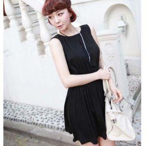 $5.99    Trendy Elegant Round Neck Design Sleeveless Hot Women Dress