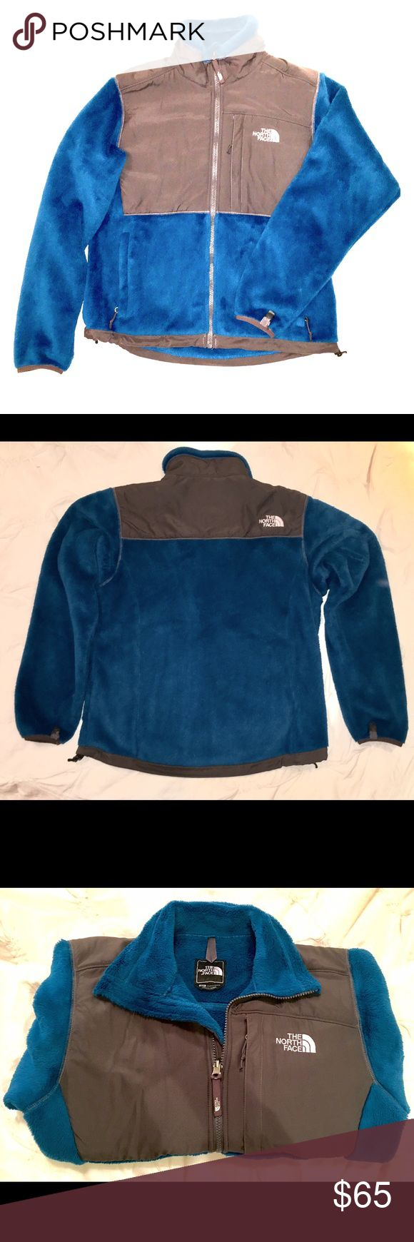 Women's North Face Denali Jacket Navy blue and grey zip up jacket. Worn a few times but looks brand new! The North Face Jackets & Coats