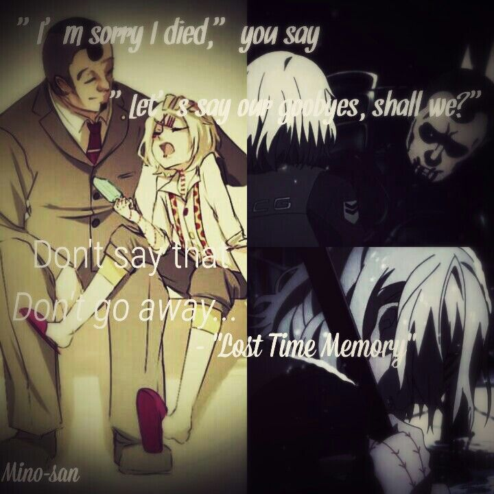 """I made this Tokyo Ghoul edit ^^ Lyrics taken from the song """"Lost Time Memory"""" (the name I use when editing was Mino-san but now it's Mino-dono)"""