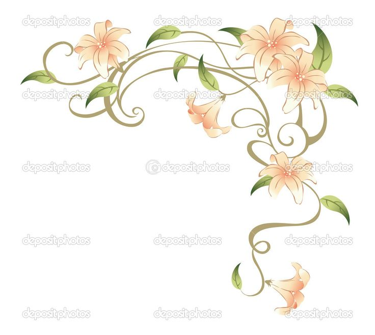 Flower Vine Tattoos | Flower and vines — Stock Photo © Li Su #3462915