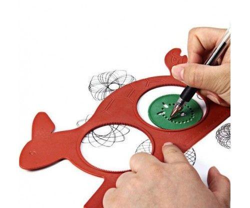 Nyuszi-teknős formájú spirográf rajzoló sablon, szuper ajándék gyerekeknek!