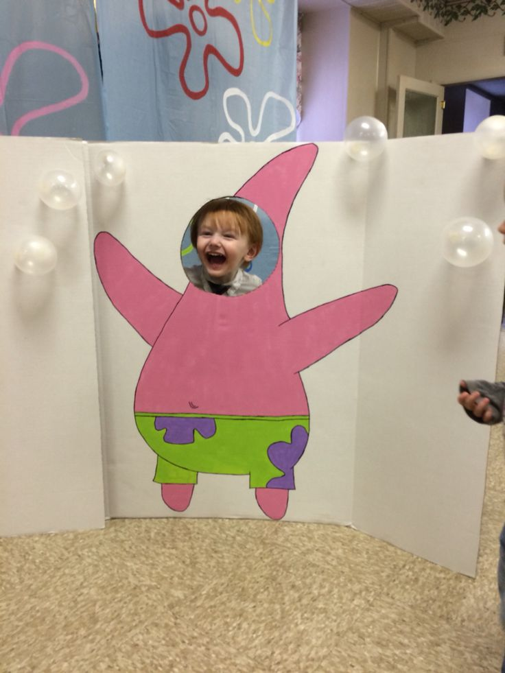 Patrick Star photo cut out for Jason's sponge bob party!