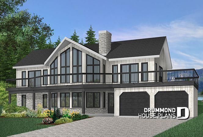 Discover The Plan 3912 The Timberline 2 Which Will Please You For Its 4 Bedrooms And For Its Cottage Chalet Cabin Styles Craftsman Style House Plans House Plans Craftsman House Plans