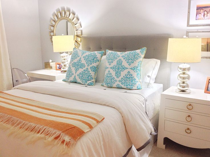 Aqua And Coral Bedroom | Teen Turquoise And Coral Bedroom