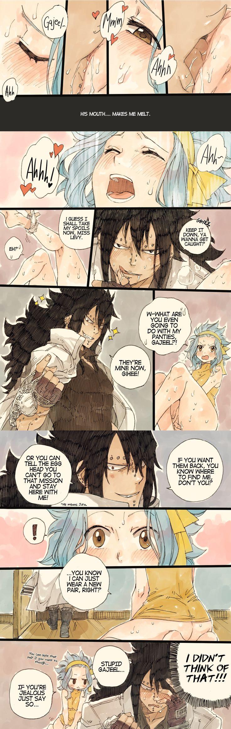 Gajeel and Levy. 3:))) xD x3