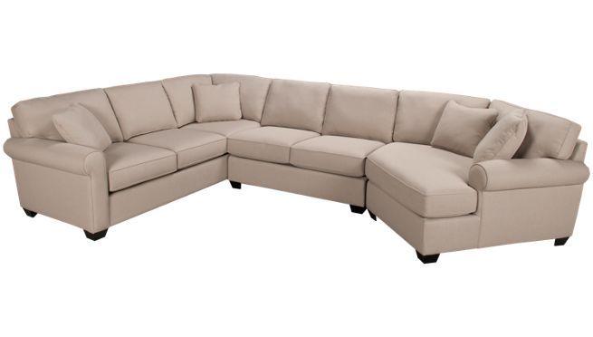 Max Home - Cuddler - 3 Piece Sectional - Jordan's Furniture