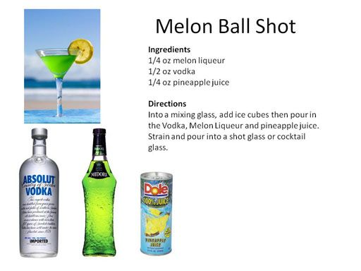 Midnight Mixologist | Melon Ball shot