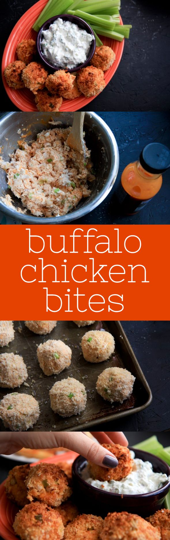 Have plenty of finger food - your guests won't be able to keep their fingers off these buffalo chicken bites! #BHGREParty