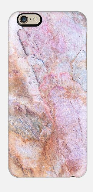 iphone 6 plus marble case Rose Stone by cellcasebythatsnancy