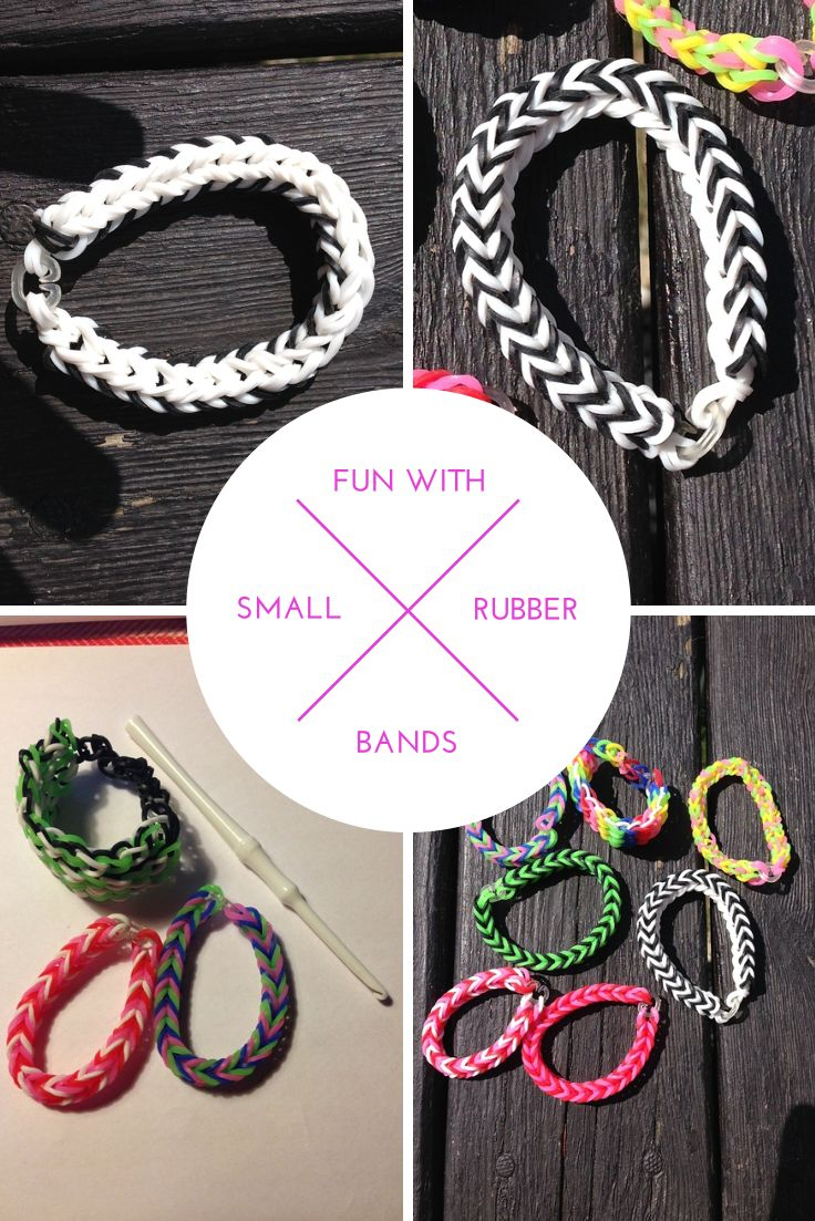 Amazing how creative you can get with your kids and a bunch of small rubber bands! #loom #rubberbands