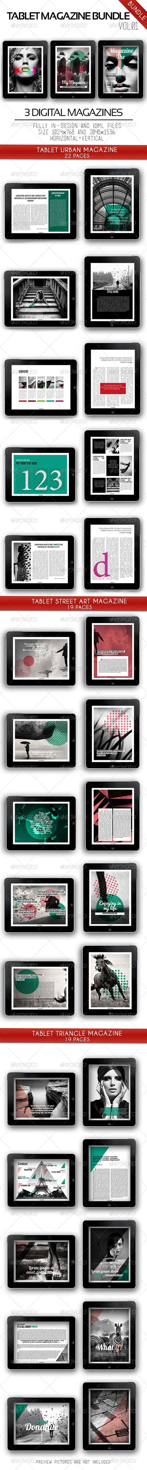iPad & Tablet Magazine Bundle Vol.01 - Digital Magazines ePublishing