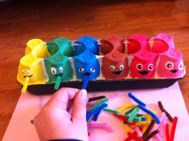 Babblarna fine motor, Color match and speech activity