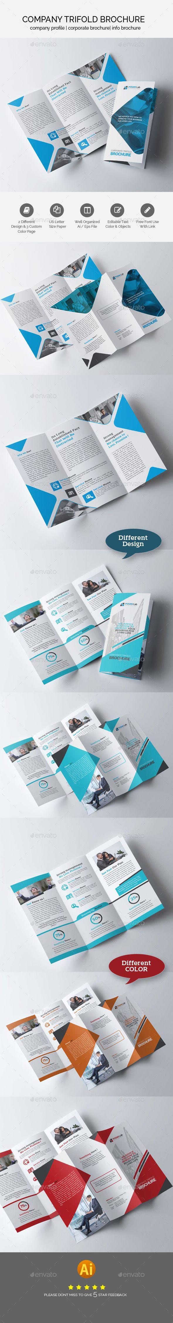 Business Trifold Brochure Design Bundle Templates Vector EPS, AI Illustrator