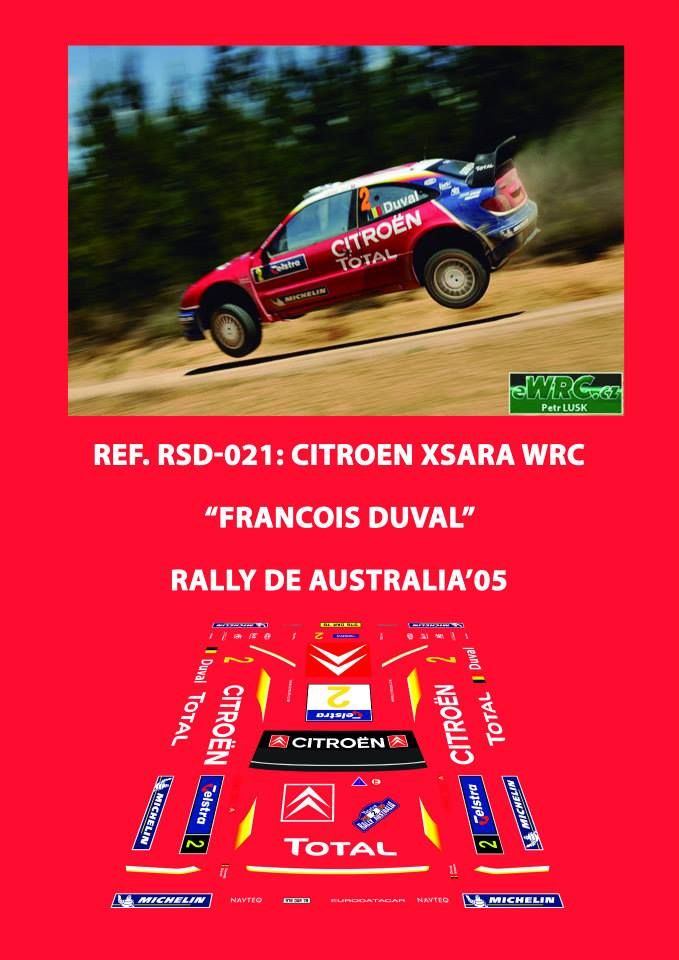 Ref. RSD-021: Citroen Xsara WRC Francois Duval - Rally de Australia 2005