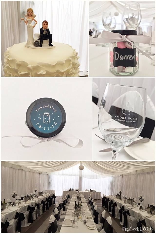 As simple as Black & White!  Amazing outdoor\indoor Courtyard Marquee Wedding