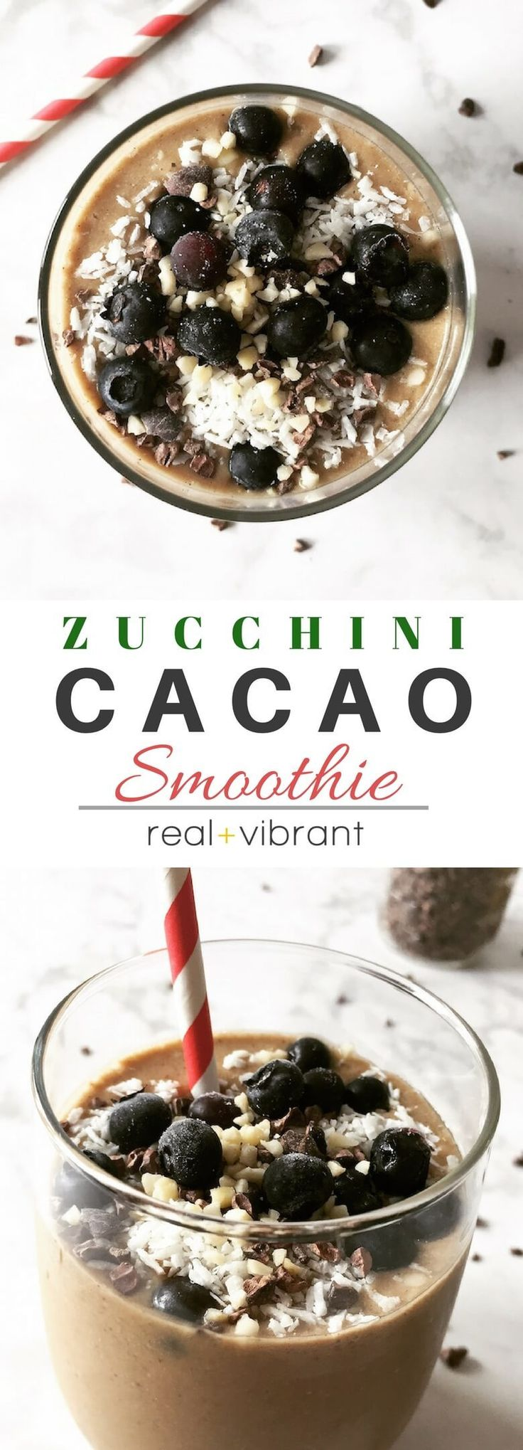 This refreshingly delicious zucchini cacao smoothie is so good you won't even taste the extra serving of zucchini in it! Yes, there's zucchini in this smoothie. And, no, it's not disgusting. In fact, you won't even taste it! It's that delicious. And it's a great way to load your smoothies with extra veggies. Win win,...