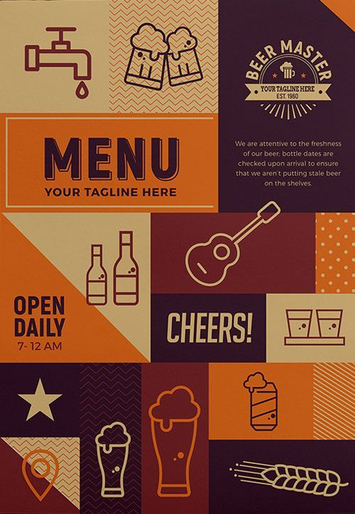 Free Craft Beer Menu Flyer Template - http://freepsdflyer.com/free-craft-beer-menu-flyer-template/ Enjoy downloading the Free Craft Beer Menu Flyer Template created by Brandpacks!   #Advertisement, #Agency, #Business, #Corporate, #Creative, #Ecommerce, #Elegant, #Event, #Invitation, #Party, #Shop - Love a good success story? Learn how I went from zero to 1 million in sales in 5 months with an e-commerce store.