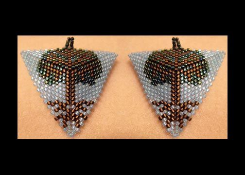 Tree of Life Triangle Pendant & Earring Pattern only by Violetbead
