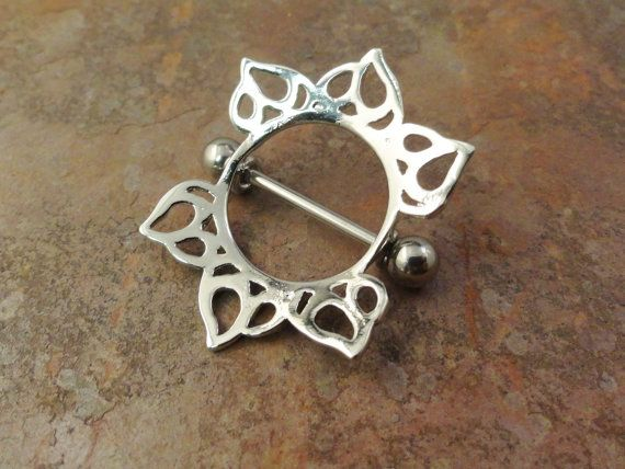 Tribal Sun Nipple Shield Jewelry Barbell 316L 14ga Piercing on Etsy, $8.96 CAD