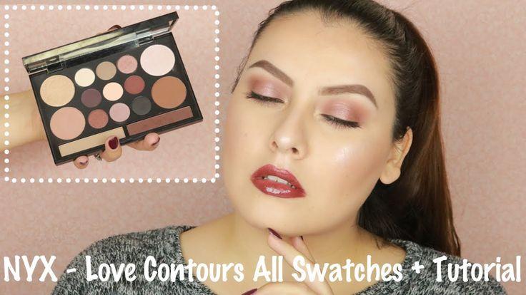 NYX Cosmeticos - Love Contours All Swatches + Tutorial De Ojos + *GANADO...