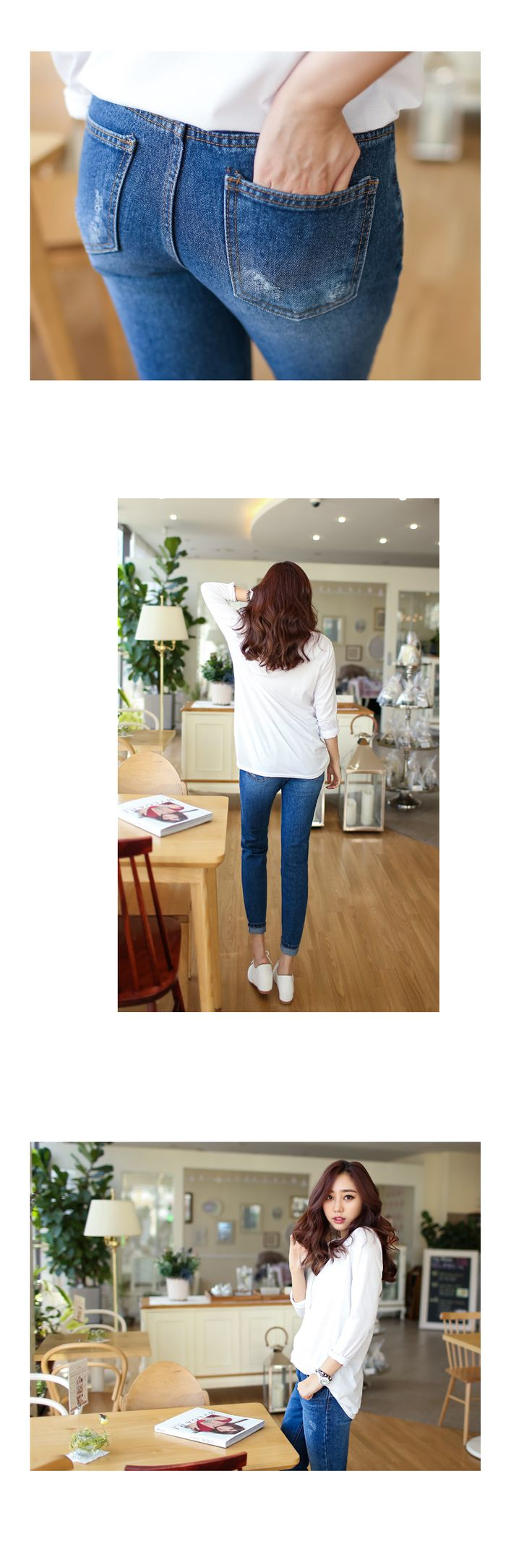 Korea Woman Big size clothing shop. [Jstyle] Wool pants / Size : 26-38 / Price : 32.83 USD #dailylook #OOTD #JSTYLE #plussize #pants #bottom #jeans #loosefit #large #xlarge