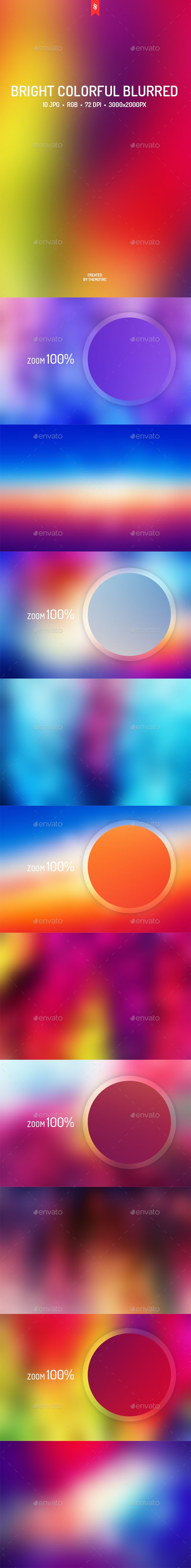Bright Colorful Blurred Backgrounds - Download…