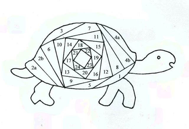 Turtle template for Iris Folding