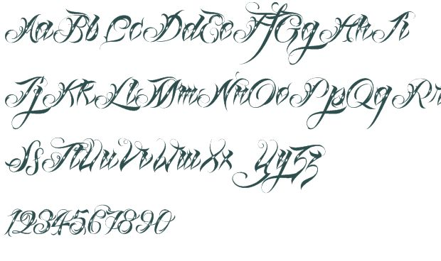 Calligraphy tattoo fonts fancy script