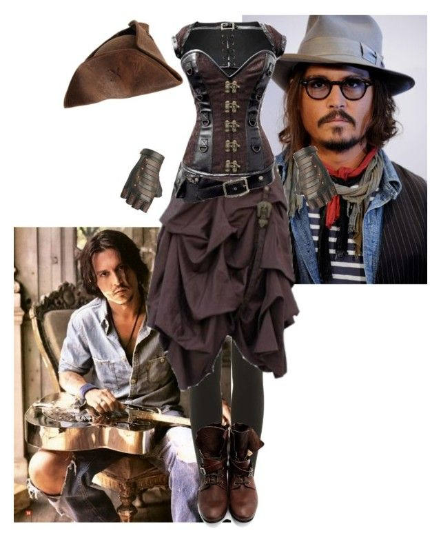 Johnny Depp female version by slytheriner on Polyvore featuring Topshop and John Fluevog