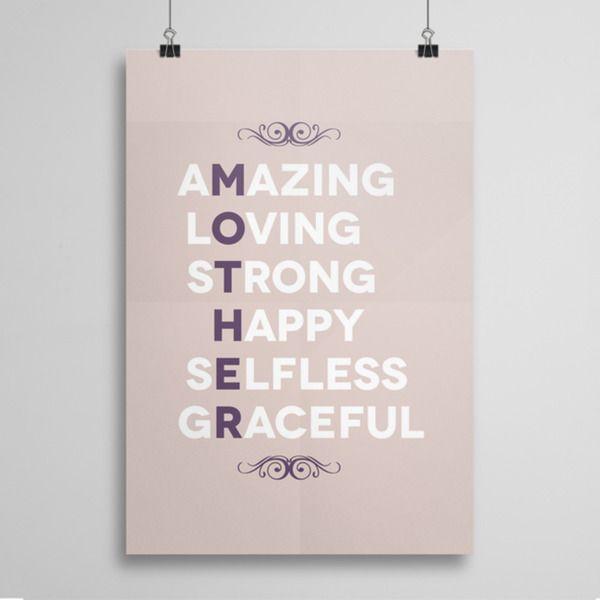 Amazing Mother - plakat w artiglo na DaWanda.com