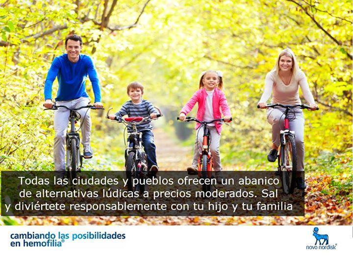 ¡Diviértete de manera responsable con tu hijo!  Aprovecha los espacios que ofrecen las ciudades y pueblos.