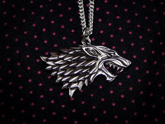house STARK Sterling silver 925 necklace arya jonh snow by Oki007 Game of thrones jewelry geekery geek gifts