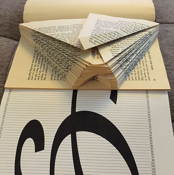 first letter of book folding