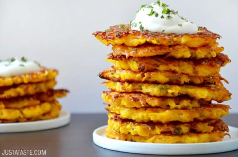 If you like potato pancakes, you're going to love these butternut squash versions. Get the recipe at Just A Taste.