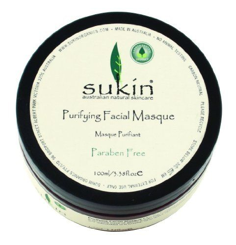 Sukin Purifying Facial Masque, 3.38 Fluid Ounce by Sukin. $13.41. Suitable for all skin types. Leaves skin feeling refreshed, nurtured and completely clean. A gentle treatment to help cleanse, tone and de-stress your skin. A purifying base of gentle kaolin clay combined with soothing aloe vera and antioxidant rich rosehip oil.. Save 10% Off!