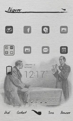 Sherlockhomes dodollauncher theme #dodol #dodollauncher #homescreen #android #drawing #screen