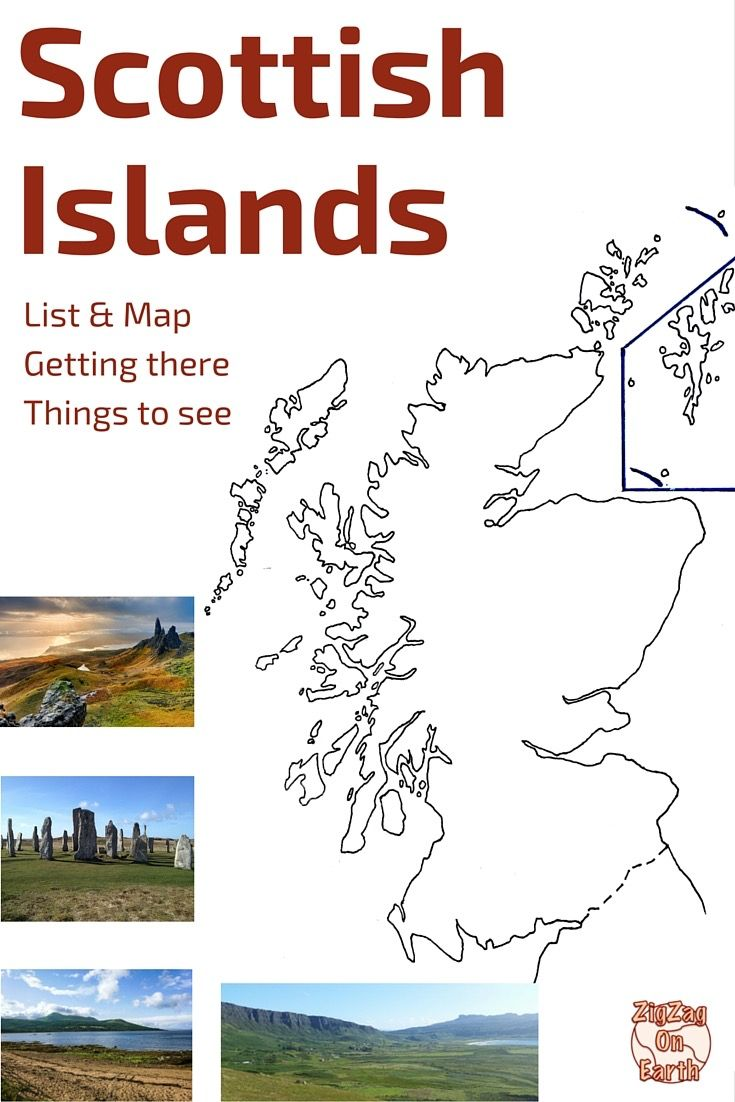 Discover 24 of the main Scottish islands to help you plan your trip to Scotland: Skye, Arran, Orkney, Lewis, Mull.. - map of the isles, how to get there, things to do and see on each island - http://www.zigzagonearth.com/scottish-islands-scotland/