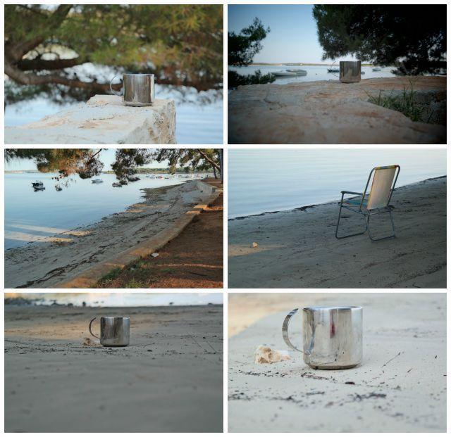 Reggeli ganodermás egészséges kávé a horvát tengerparton