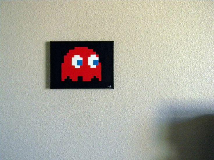 Atari Pacman Blinky painting Nice!!! by K-U-T $18.50 on ebay