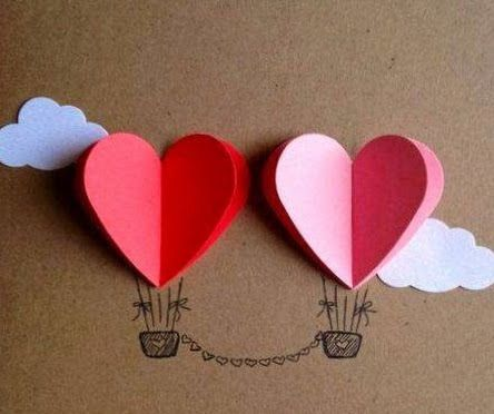 Hot air balloons for valentines