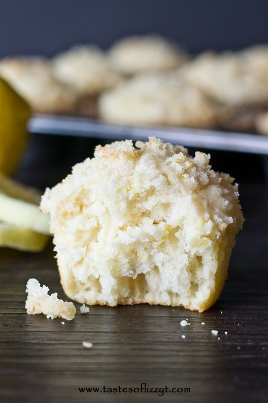 Lemon Crumb Muffins >> by Tastes of Lizzy T's