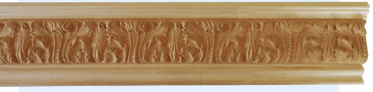wood crown molding (moulding) - Houston crown molding with acanthus leaf design