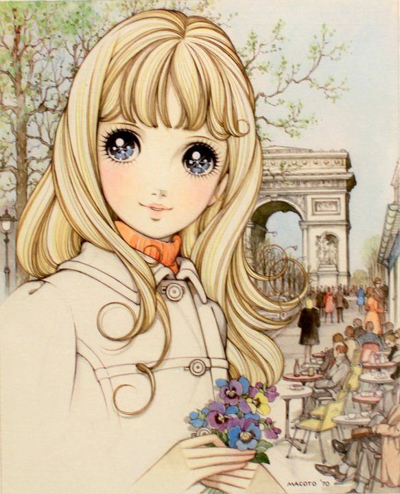 Paris by Macoto Takahashi --   Akiko: I got this copy of the original today at an art gallery in Ginza with autograph of the artist!!