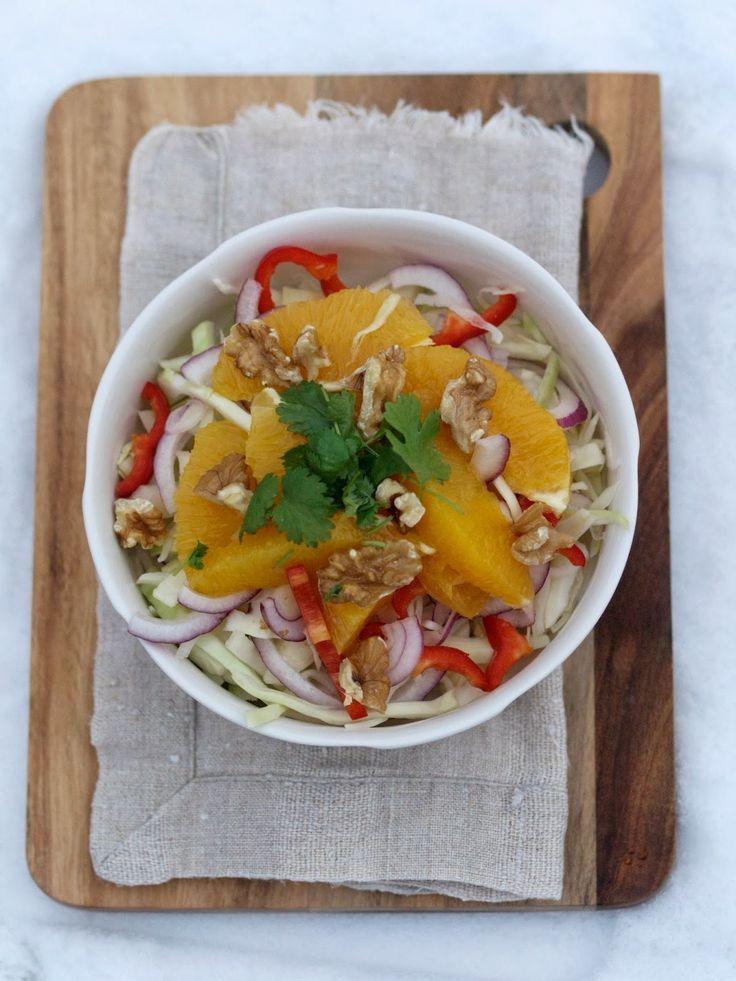[kjøkkentjeneste]: Vintersalat med kål og appelsin