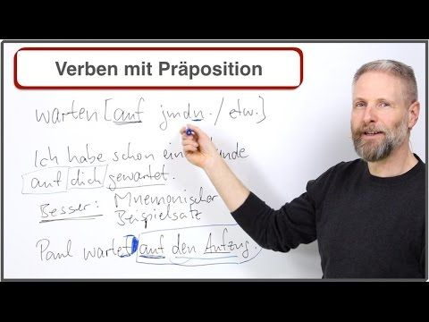 http://www.beste-tipps-zum-deutsch-lernen.com In diesem Video zeige erkläre ich dir eine sehr hilfreiche Lerntechnik zum Lernen von Verben mit Präpositionen....