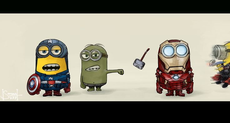 Awesome Despicable Me Minions/Avengers mashup.